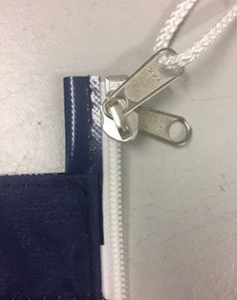 Rollfock - Persenning - Reißverschluss